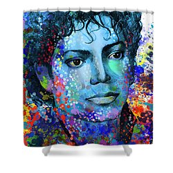 Michael Jackson 14 Shower Curtain by Bekim Art