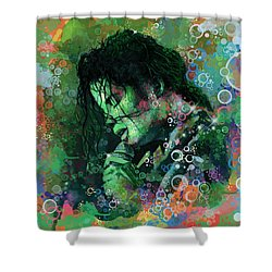 Michael Jackson 15 Shower Curtain by Bekim Art