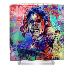Michael Jackson 8 Shower Curtain by Bekim Art