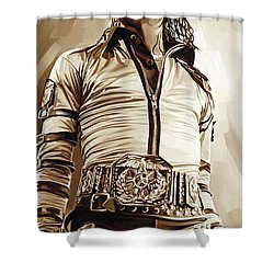 Michael Jackson Artwork 2 Shower Curtain by Sheraz A