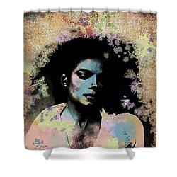 Michael Jackson - Scatter Watercolor Shower Curtain