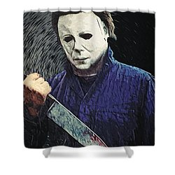 Michael Myers  Shower Curtain