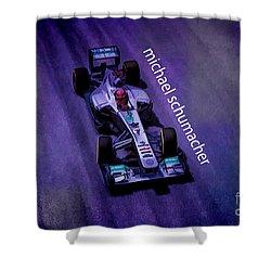 Michael Schumacher Shower Curtain by Marvin Spates
