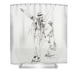 Michael Smooth Criminal Shower Curtain
