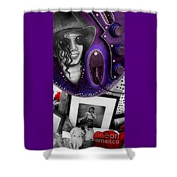 Shower Curtain featuring the photograph Michael's Memorial by PJ Boylan