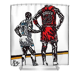 Micheal Jordan 1 Shower Curtain by Jeremiah Colley
