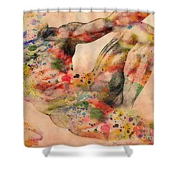 Michelangelo  Shower Curtain by Mark Ashkenazi