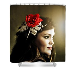 Michelle Bailey Shower Curtain by Ally  White