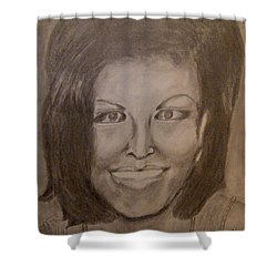 Michelle Obama Shower Curtain by Irving Starr