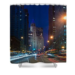 Michigan Avenue Chicago Shower Curtain by Steve Gadomski