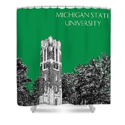 Michigan State University - Forest Green Shower Curtain