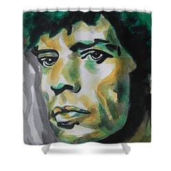 Mick Jagger Shower Curtain by Chrisann Ellis
