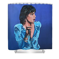 Mick Jagger Shower Curtain by Paul Meijering
