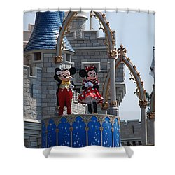 Mickey And Minnie In Living Color Shower Curtain by Rob Hans