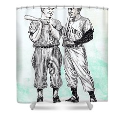 Mickey And Willie Shower Curtain by Mel Thompson