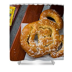 Mickey Mouse Shaped Pretzel Shower Curtain