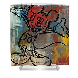 Mickey Mouse Sketchy Hello Shower Curtain