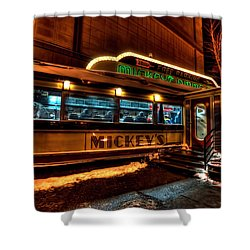 Mickey's Diner St Paul Shower Curtain by Amanda Stadther