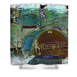 Mick's Drums Shower Curtain by Paulette B Wright