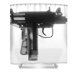 Micro Uzi X Ray Photograph Shower Curtain by Ray Gunz
