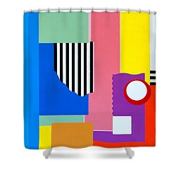 Mid Century Compromise Shower Curtain by Thomas Gronowski