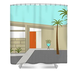 Mid Century Modern House 1 Shower Curtain