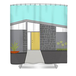 Mid Century Modern House 2 Shower Curtain