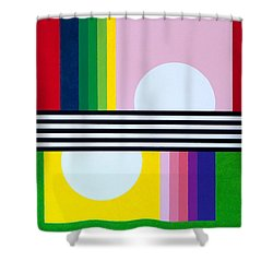 Mid Century Resolution Shower Curtain by Thomas Gronowski