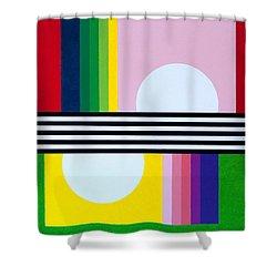 Mid Century Resolution Shower Curtain