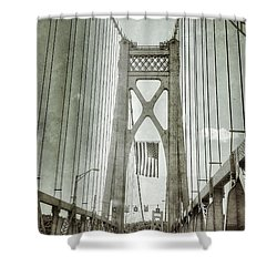 Mid Hudson Suspension Bridge Shower Curtain