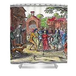 Middle Ages Dancing Mania Shower Curtain by Granger