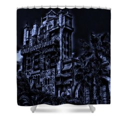 Midnight At The Tower Of Terror Shower Curtain