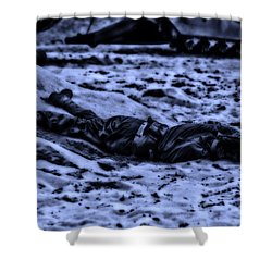 Midnight Battle All Alone Shower Curtain by Thomas Woolworth