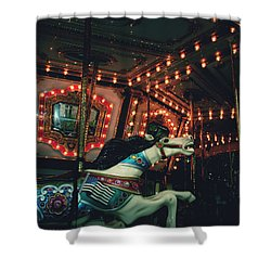 Shower Curtain featuring the photograph Midnight Dream by Rachel Mirror