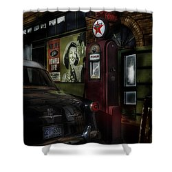 Midnight Fill Up Shower Curtain by Gary Warnimont