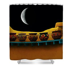 Midnight In Taos Shower Curtain