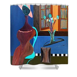 Midnight On The Terrace Shower Curtain