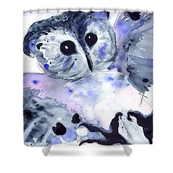 Midnight Owl Shower Curtain