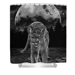 Midnight Patrol Shower Curtain