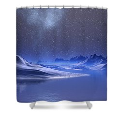 Midnight Snow Shower Curtain