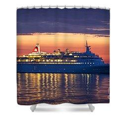 Midnight Sun Black Watch Cruise Liner Shower Curtain