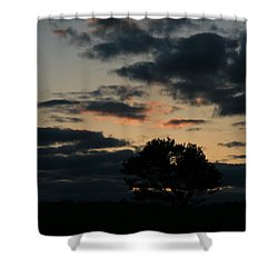 Shower Curtain featuring the photograph Farm Pasture Midnight Sun  by Neal Eslinger
