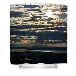 Midnight Sun Over Mount Susitna Shower Curtain by Andrew Matwijec