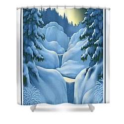 Midnight Sun Shower Curtain