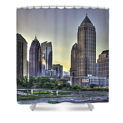 Midtown Atlanta Sunrise Shower Curtain by Reid Callaway