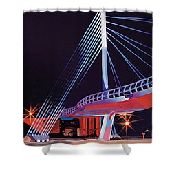 Midtown Greenway Sabo Bridge Shower Curtain by Jude Labuszewski