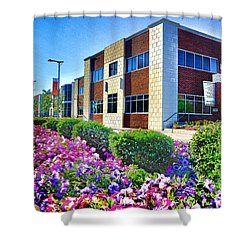 Shower Curtain featuring the photograph Geis Midtown Tech Park - Cleveland Ohio by Mark Madere