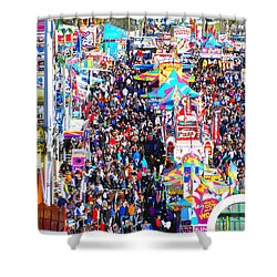 Midway Crowd Shower Curtain by David Lee Thompson