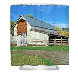 Midway Vintage Barn Hotchkiss Co Shower Curtain
