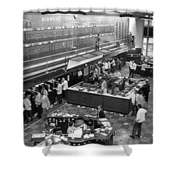 Midwest Stock Exchange Shower Curtain by Underwood Archives